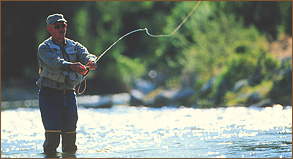 fly fishing ranch activity