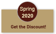 spring 2020 get the discount!